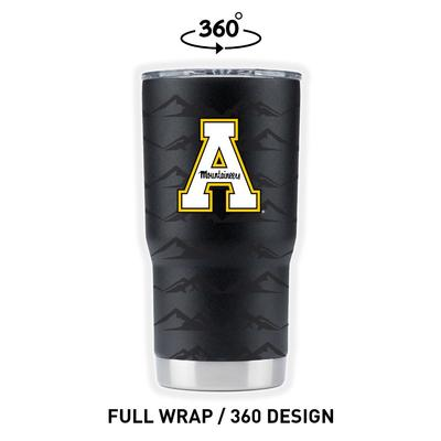 Appalachian State 20 oz Clear Wrap A Tumbler