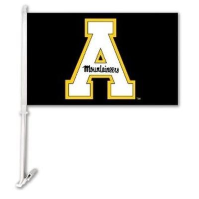 Appalachian State 2-Sided A Car Flag