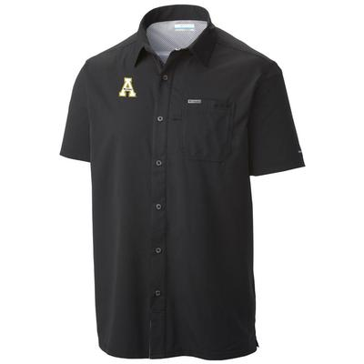 Appalachian State Columbia Men's Slack Tide Short Sleeve Woven Shirt