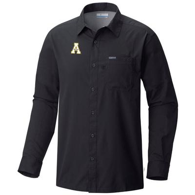 Appalachian State Columbia Men's Slack Tide Long Sleeve Woven Shirt