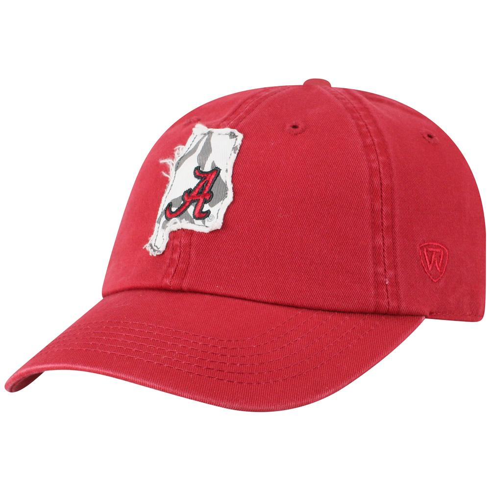 Alabama Top Of The World Women's State Patch Adjustable Hat