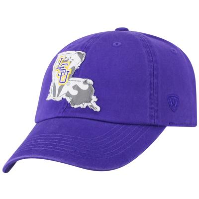 LSU Top of the World Women's State Patch Adjustable Hat