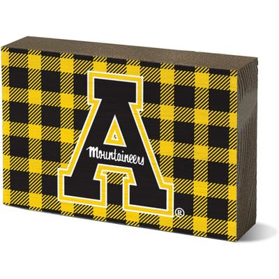 Appalachian State Legacy Buffalo Plaid Rectangle Block