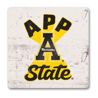 Appalachian State Legacy Retro Square Magnet