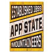 Appalachian State Legacy Showcase Plank Sign
