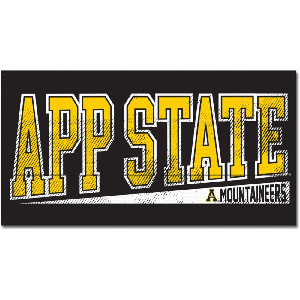 Appalachian State Legacy Get Loud Wood Plank Sign