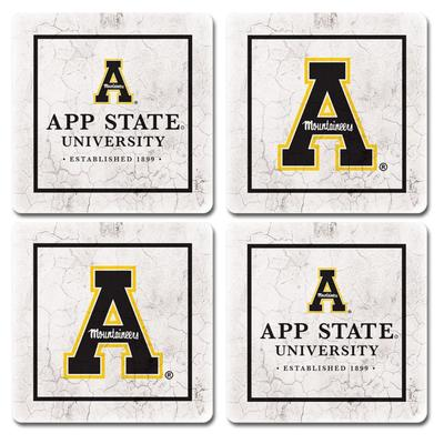 Appalachian State Legacy Ivy League 4 pk Coasters