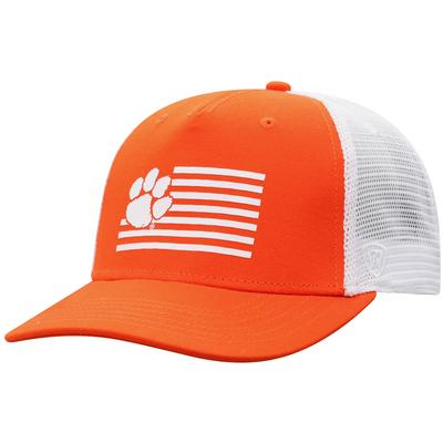 Clemson Top of the World Silicone Stripes Trucker Hat