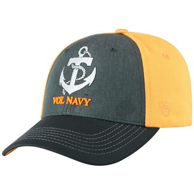 Tennessee Top of the World Vols Navy Adjustable Hat