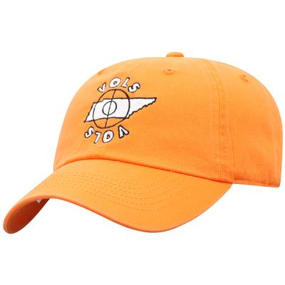 Tennessee Top of the World Basketball Mid-court Adjustable Hat