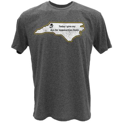 Appalachian State Give My All State Short Sleeve Tee