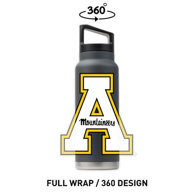 Appalachian State 40 oz A Logo Bottle with Lid