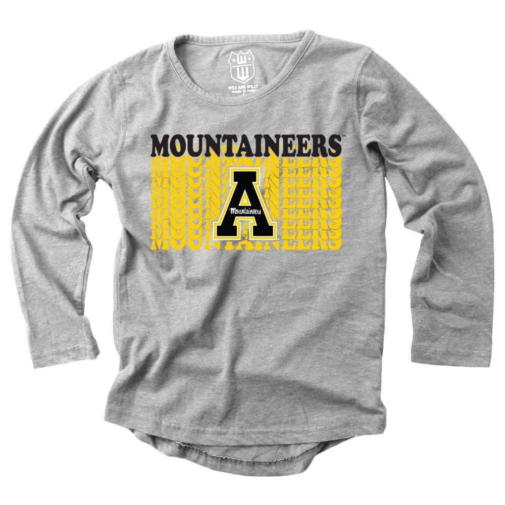 Appalachian State Girls Burnout Long Sleeve Tee