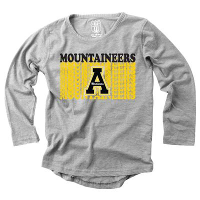 Appalachian State Youth Burnout Long Sleeve Tee
