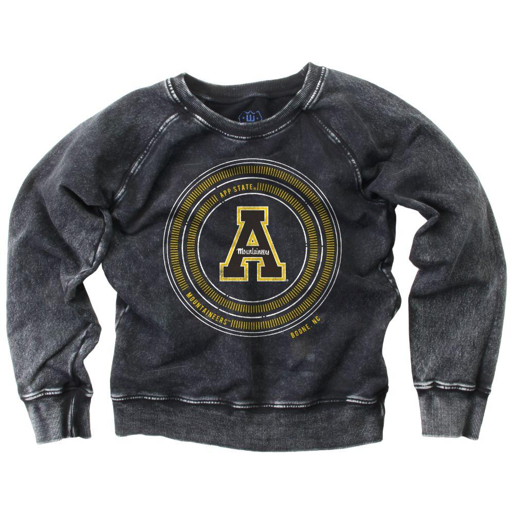 Appalachian State Youth Faded Fleece Crew