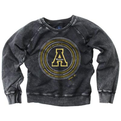 Appalachian State Girls Faded Fleece Crew