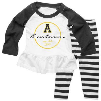 Appalachian State Girls Striped Pant Set