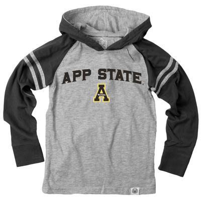 Appalachian State Boys Arched Long Sleeve Hooded Raglan