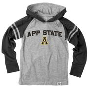 Appalachian State Boys Arched Long Sleeve Hooded Raglan