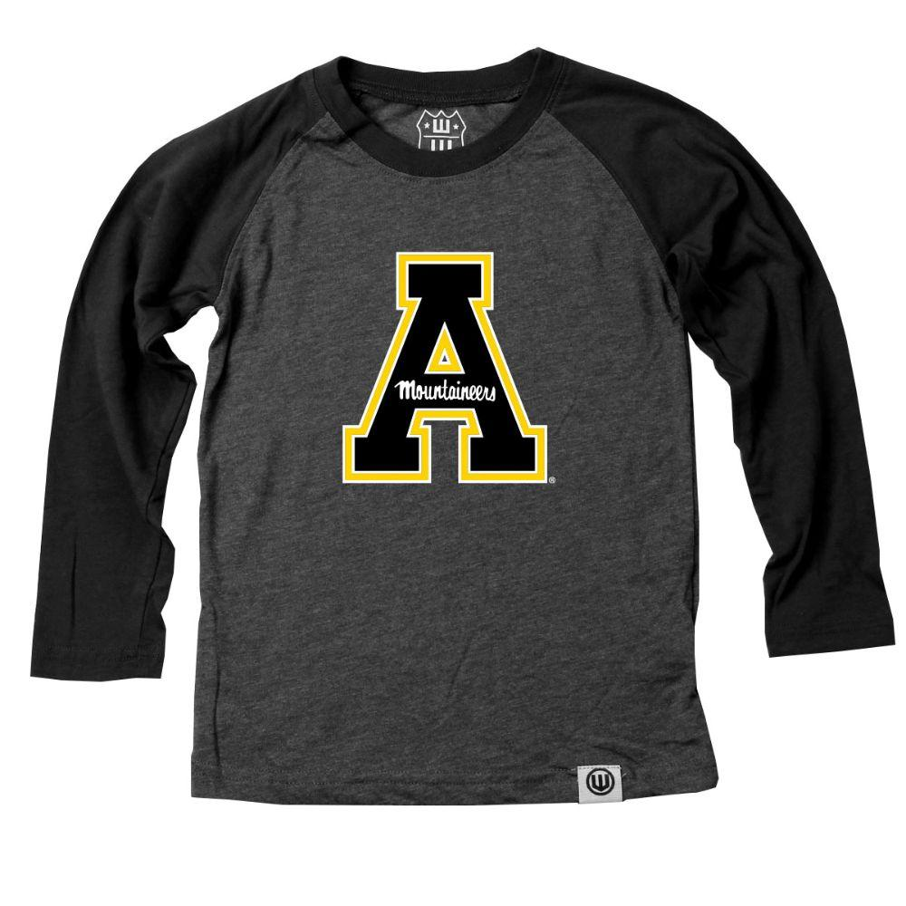Appalachian State Youth A Logo Long Sleeve Raglan