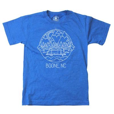 Wes and Willy Kids Mountain RV Sketch Short Sleeve Tee
