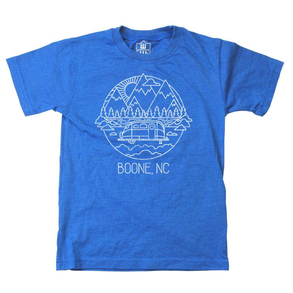 Wes And Willy Youth Mountain Rv Sketch Short Sleeve Tee
