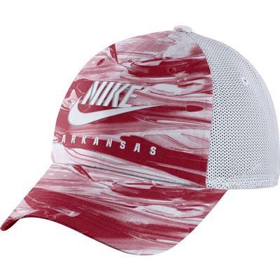 Arkansas Nike H86 Spring Break Tie Dye Trucker Hat