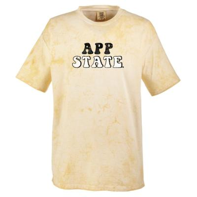 Appalachian State Summit Colorblast Retro Font Comfort Colors Tee