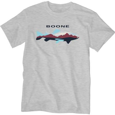 Blue 84 Trout with Mountain and River Short Sleeve Tee