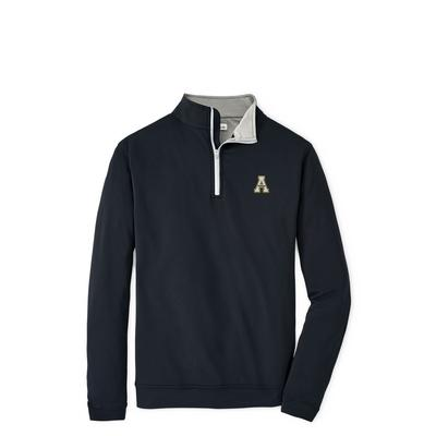 Appalachian State Peter Millar Perth Solid Stretch 1/4 Zip Pullover