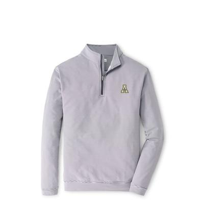Appalachian State Peter Millar Perth Mini Stripe Stretch 1/4 Zip Pullover