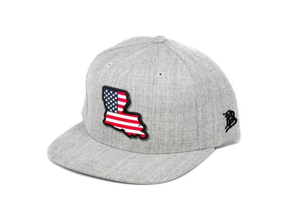 State Of Louisiana Branded Bills Rogue Patriot Flatbrim Hat