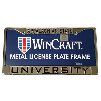 Appalachian State Metallic LicensePlate Frame