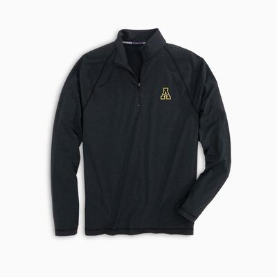 Appalachian State Southern Tide Men's Heather Performance 1/4 Zip Pullover