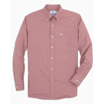 Alabama Southern Tide Men's Intercoastal Gingham Sport Shirt