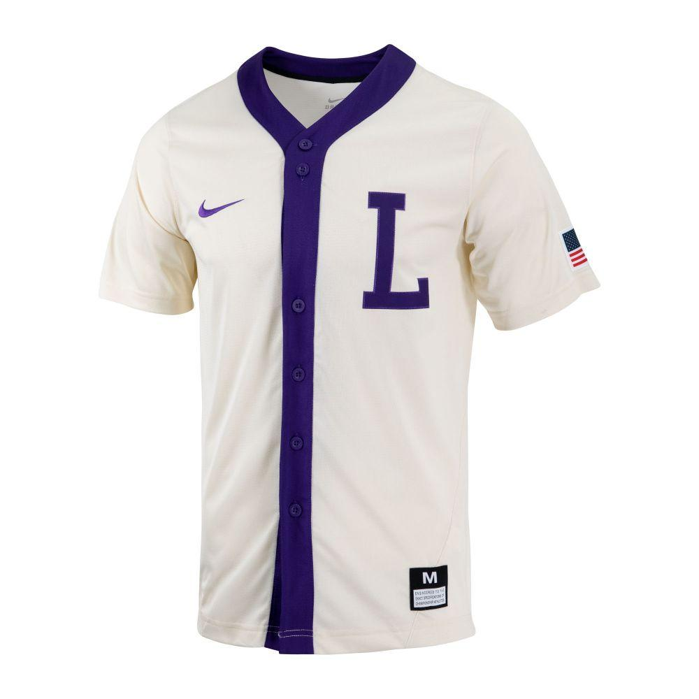 Lsu Nike Men's Throwback Baseball Jersey