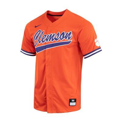Clemson Nike Men's Replica Orange Baseball Jersey
