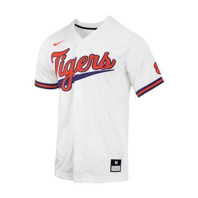 Clemson Nike Men's Replica White Baseball Jersey