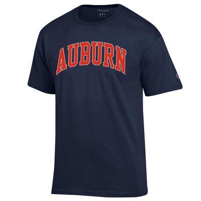 Auburn Champion Men's Arch Tee Shirt NAVY