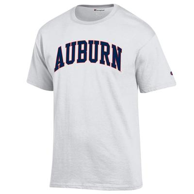 Auburn Champion Men's Arch Tee Shirt WHITE