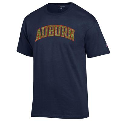 Auburn Champion Men's Camo Arch Tee Shirt