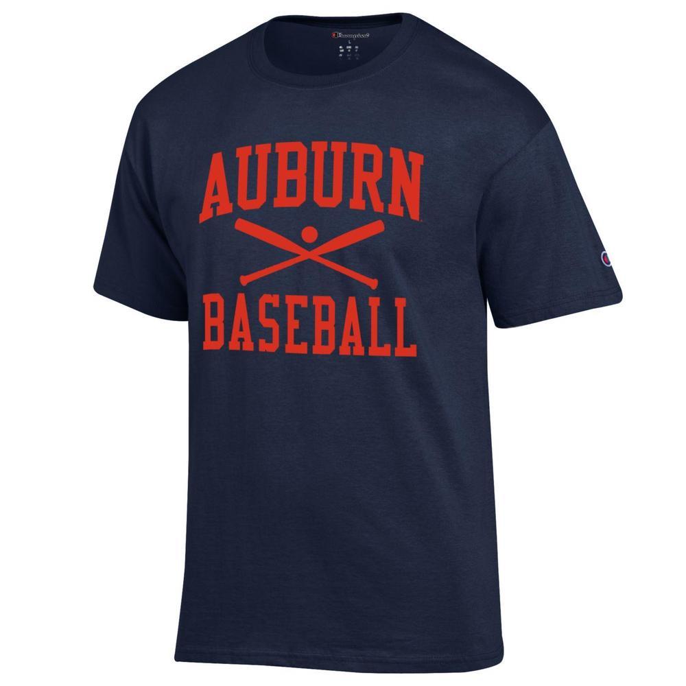 Auburn Champion Men's Basic Baseball Tee Shirt
