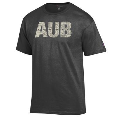 Auburn Champion Men's Town Map Lettering Tee Shirt