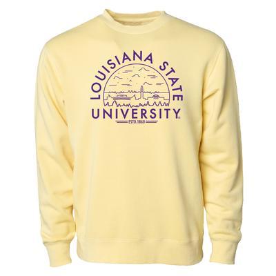 LSU Uscape Pigment Dyed Fleece