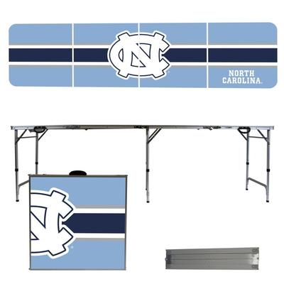 UNC Tar Heels Striped Tailgate Table