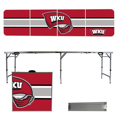 Western Kentucky Striped Tailgate Table