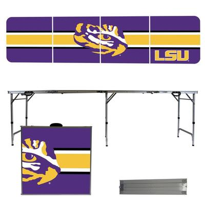 LSU Tigers Striped Tailgate Table