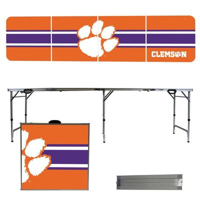 Clemson Tigers Striped Tailgate Table