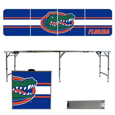 Florida Gators Striped Tailgate Table