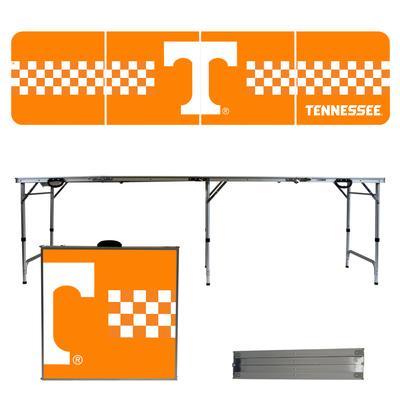 Tennessee Vols Checkerboard Stripe Tailgate Table